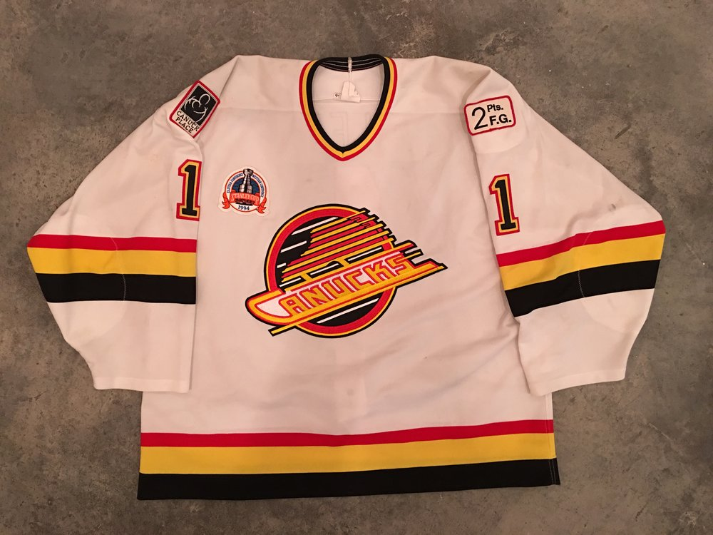 1994 Vancouver Canucks Stanley Cup Finals Game Worn Home Jersey - Kirk McLean