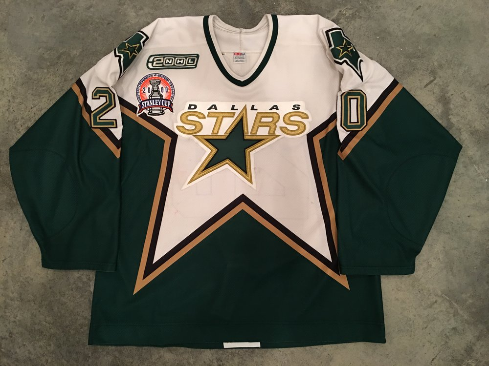 2000 Dallas Starts Stanley Cup Finals Game Worn Road Jersey - Ed Belfour
