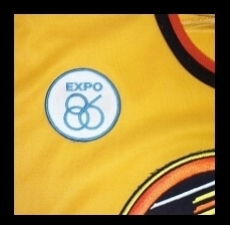 WANTED - EXPO '86 patch worn during the 1985-86 season