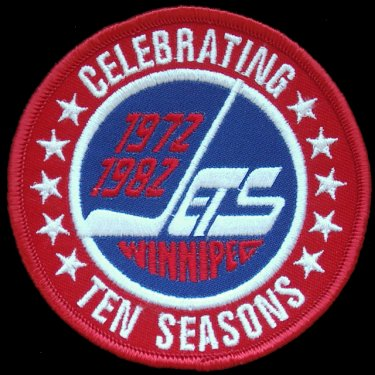 WANTED - Jets' 10th anniversary patch worn durnig teh 1982-83 season