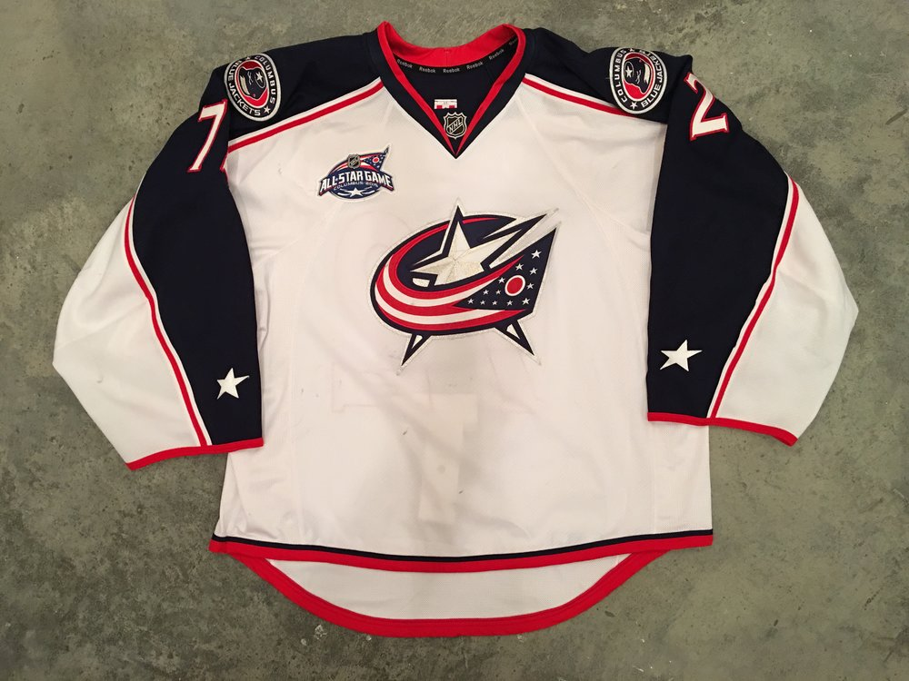 2014-15 Sergei Bobrovsky game worn road jersey with the 2015 NHL All Star Game patch