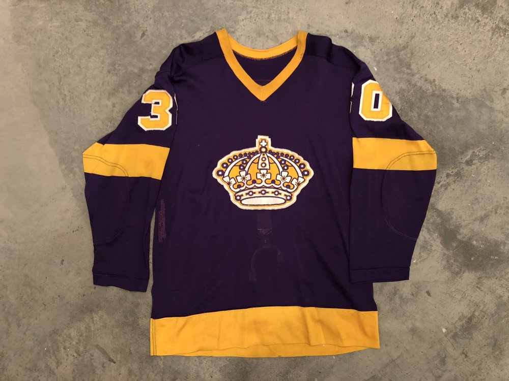Rogie Vachon Los Angeles Kings Game Worn Jersey - 1968 Vezina Winner