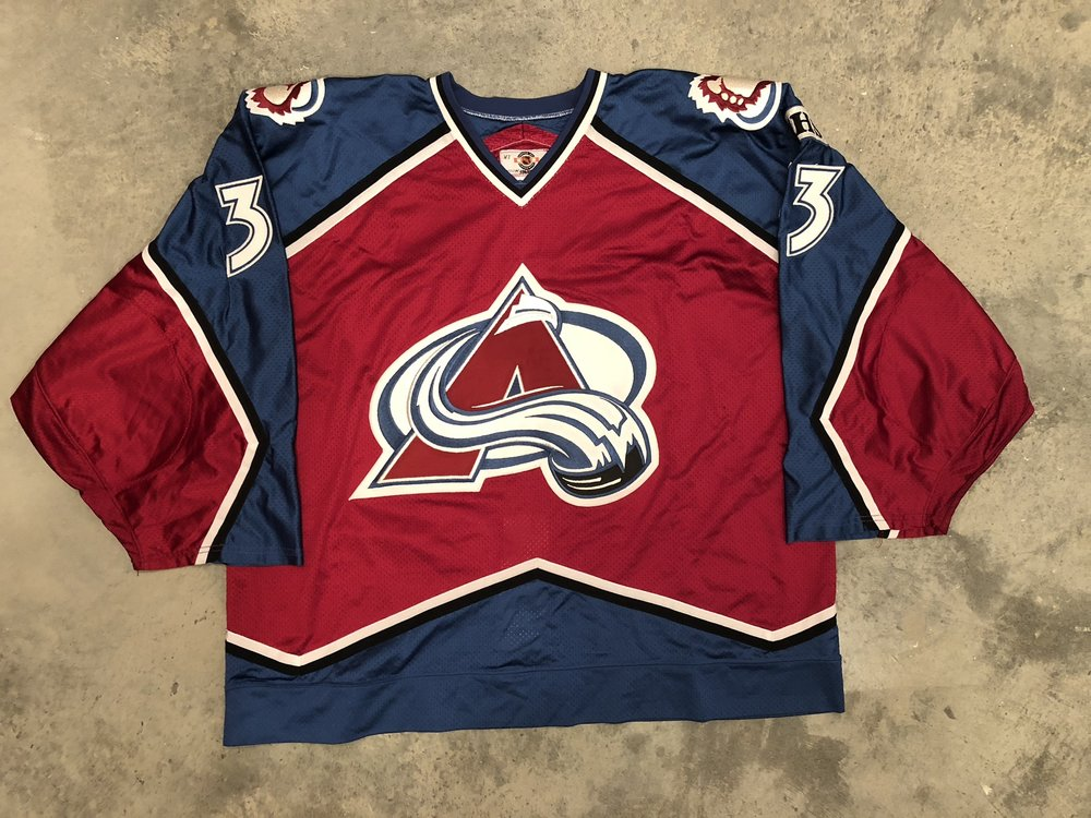 1998-99 Patrick Roy game worn road jersey with Columbine High School patch