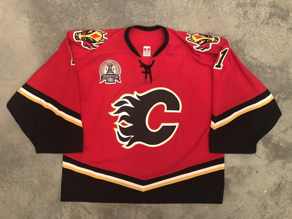 2004 Calgary Flames Stanley Cup Finals Game Worn Home Jersey - Roman Turek