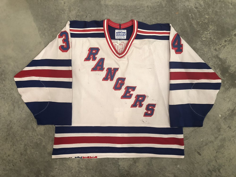 1990-91 John Vanbiesbrouck Game Worn Home Jersey