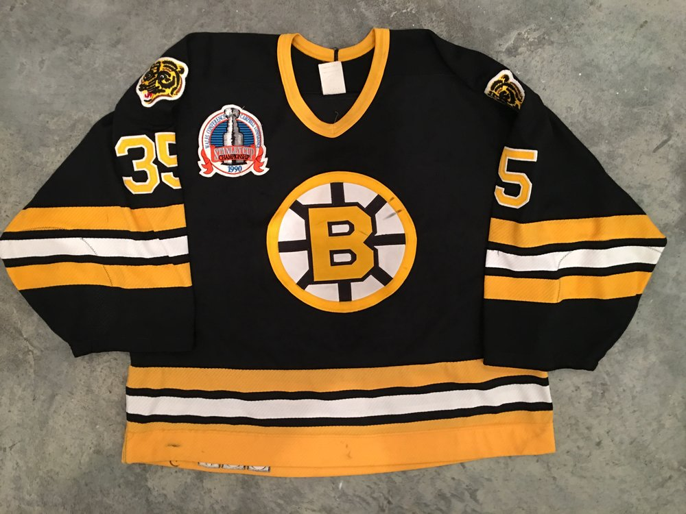 1990 Boston Bruins Stanley Cup Finals Game Worn Road Jersey - Andy Moog