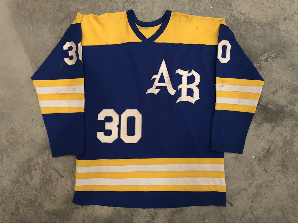 Tom Barrasso Acton Boxboro Game Worn Jersey - 1984 Vezina Winner