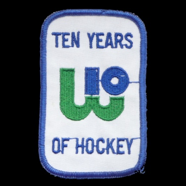 WANTED - Whalers 10th anniversary patch worn during the 1981-82 season