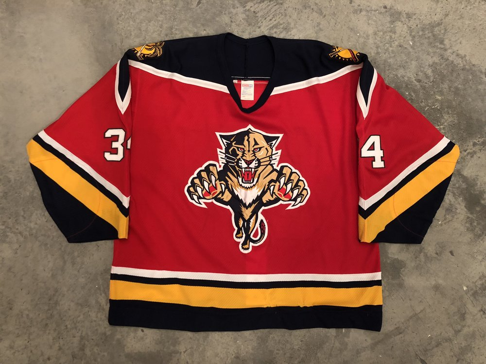 1993-94 Florida Panthers game worn road jersey