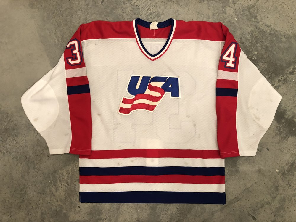 1987 Canada Cup Team USA game worn jersey