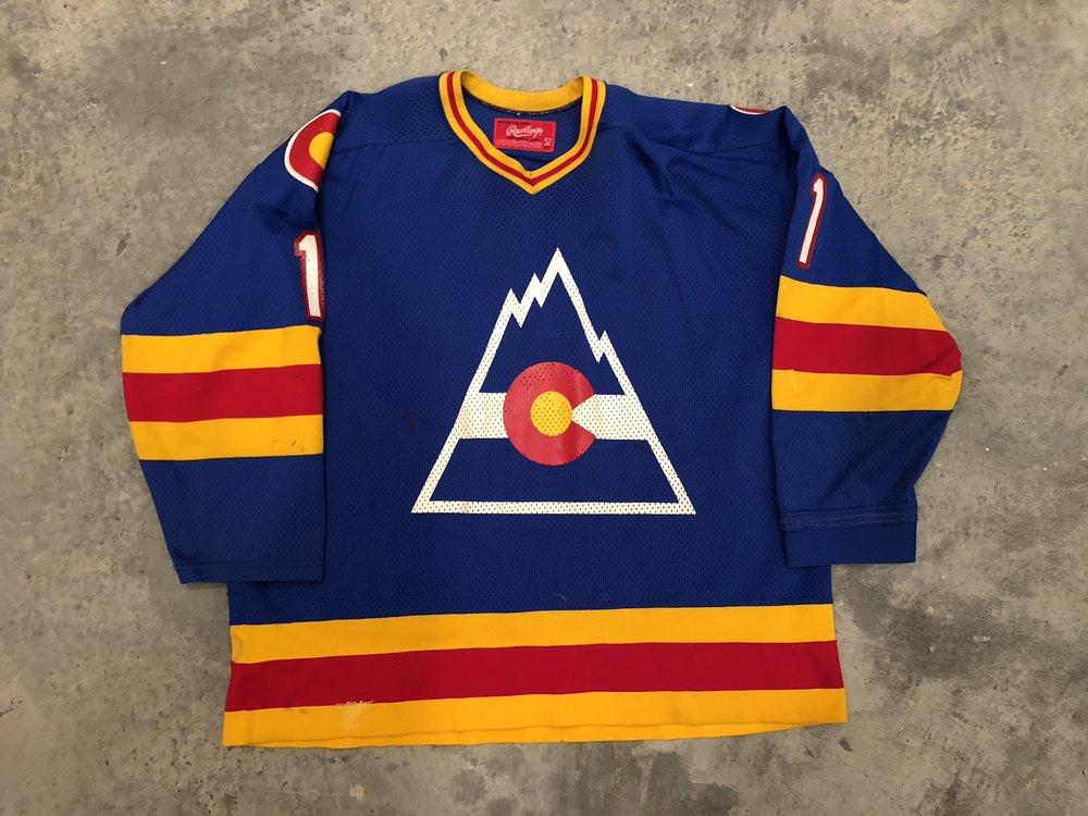 1980-81 Chico Resch Colorado Rockies game worn jersey - Also worn by Hardy Astrom