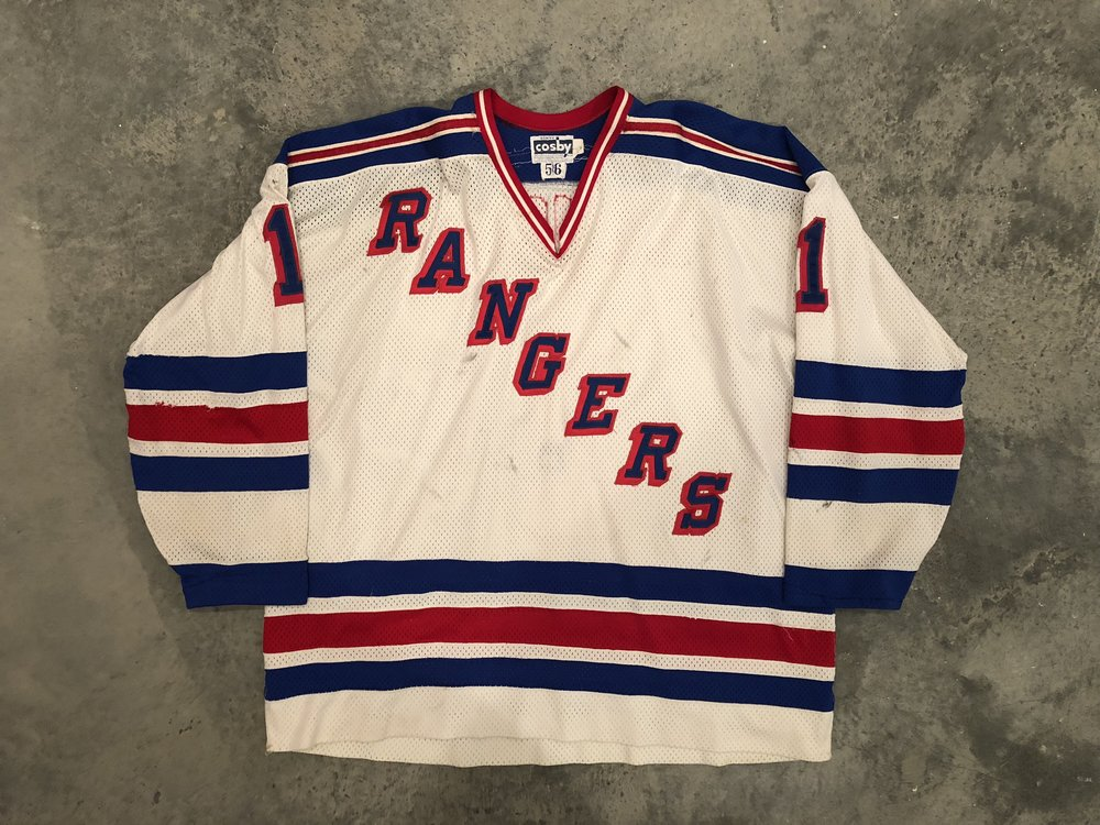 1982-83 Glen Hanlon Game Worn Home Jersey