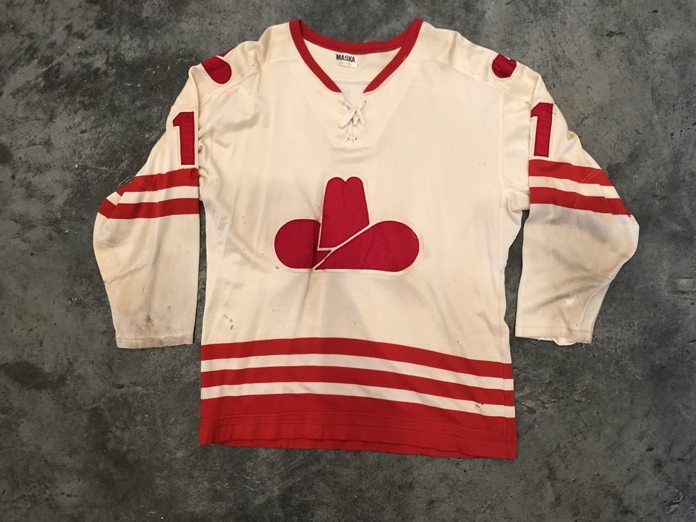 1975-76 Don McLeod Calgary Cowboys game worn home jersey