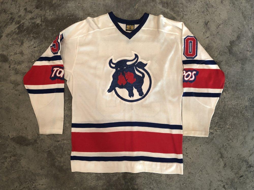 1975-76 Les Binkley Toronto Toros game worn home jersey