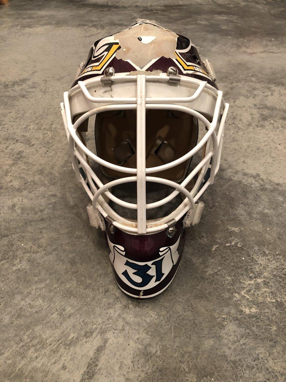1999-2000 Guy Hebert Anaheim Mighty Ducks game worn mask