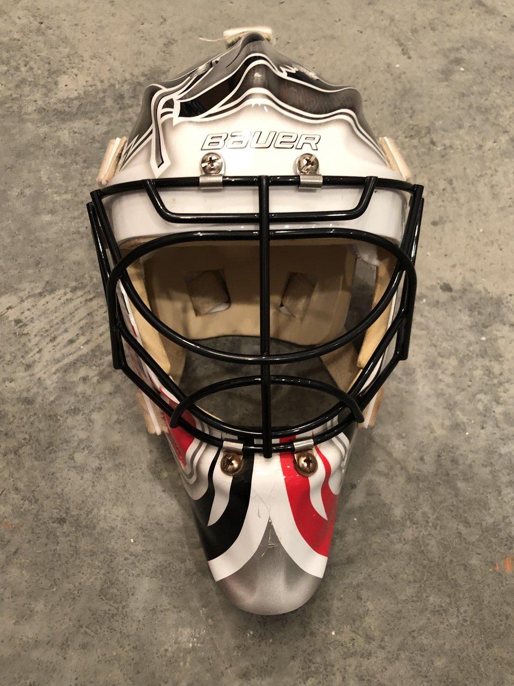 2011-12 Brian Boucher Carolina Hurricanes fame worn mask