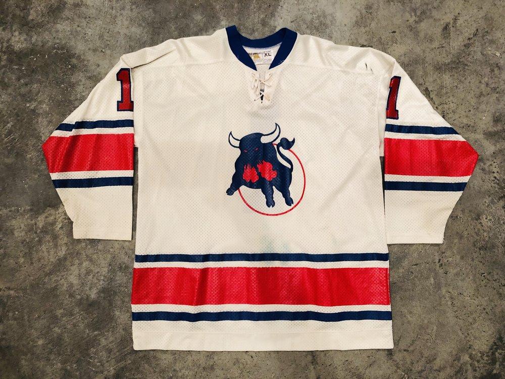 1977-78 Wayne Wood Birmingham Bulls game worn home jersey
