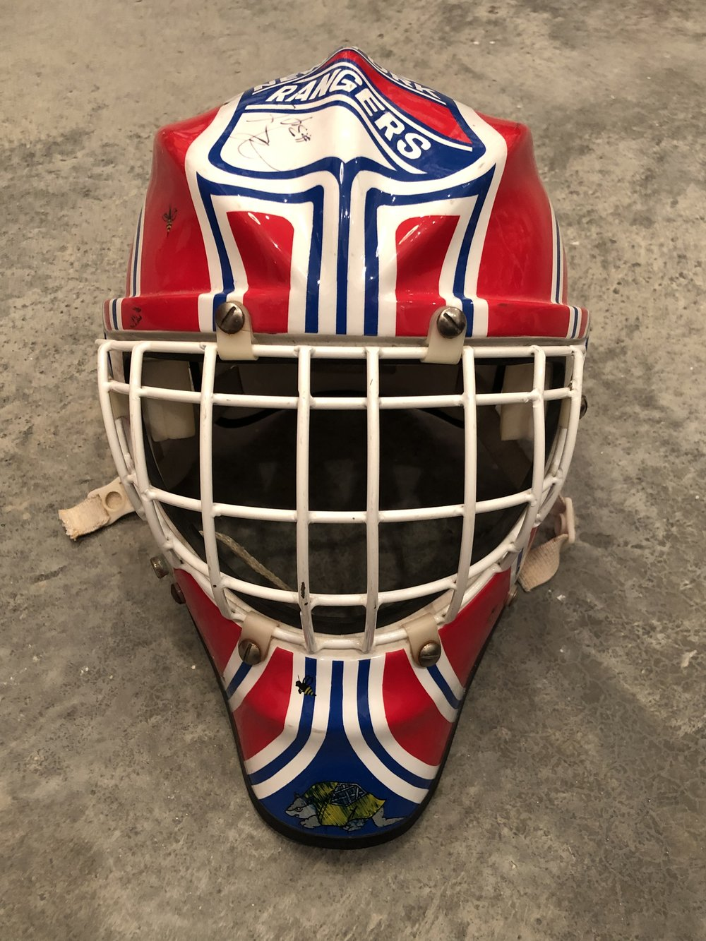 192-93 New York Rangers game worn mask