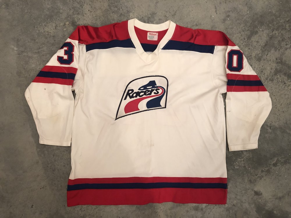 1976-77 Paul Hoganson Indianapolis Racers game worn home jersey