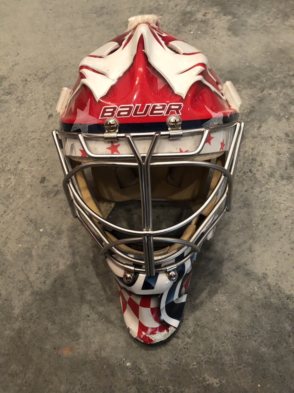 2012-13 Michal Neuvirth Washington Capitals game worn mask
