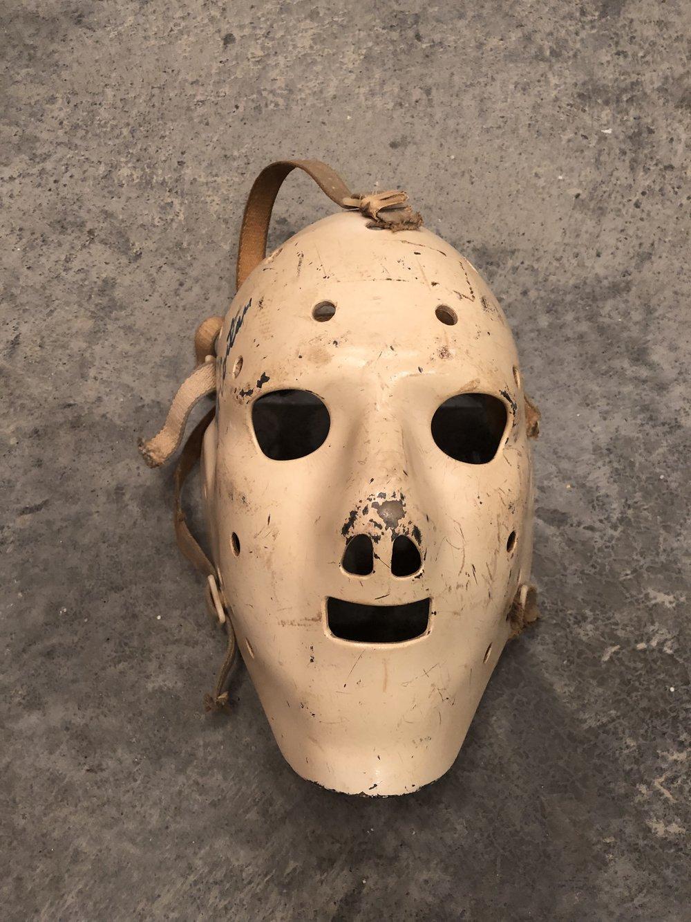 1973-74 Jack McCarten WHA Minnesota Fighting Saints game worn mask