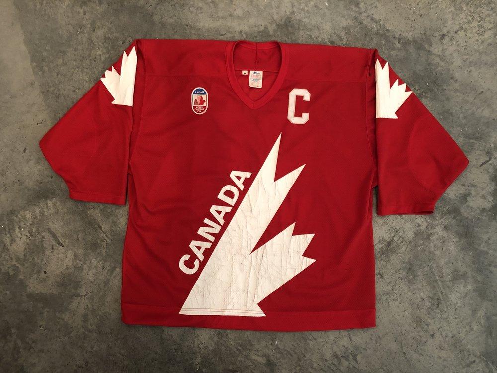 1991 Canada Cup Wayne Gretzky Canada Game Worn Jersey