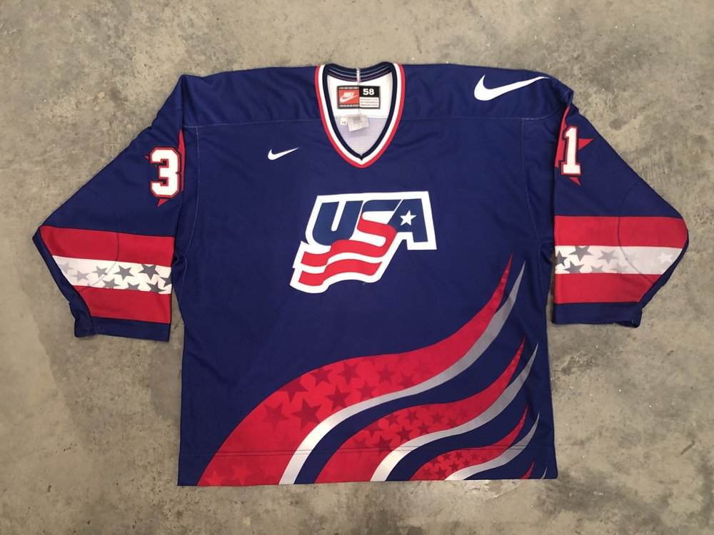 1996 World Cup of Hockey Guy Hebert Team USA Game Worn Jersey