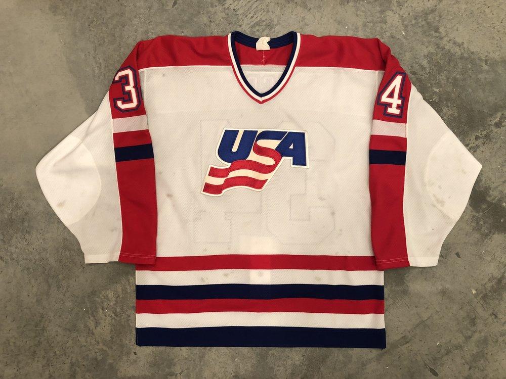 1987 Canada Cup John Vanbiesbrouck Team USA Game Worn Jersey