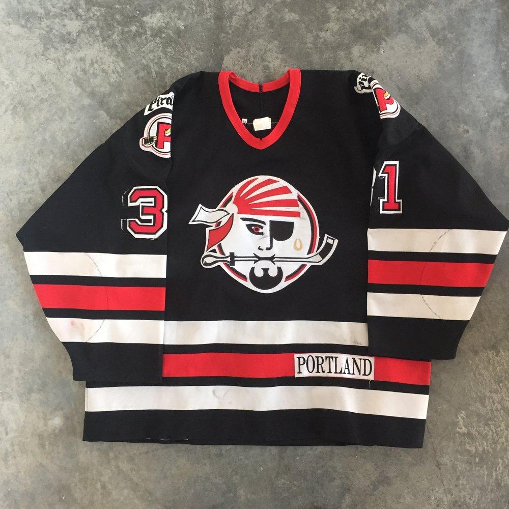 1994-95 Portland Pirates Jim Carey Game Worn Road Jersey