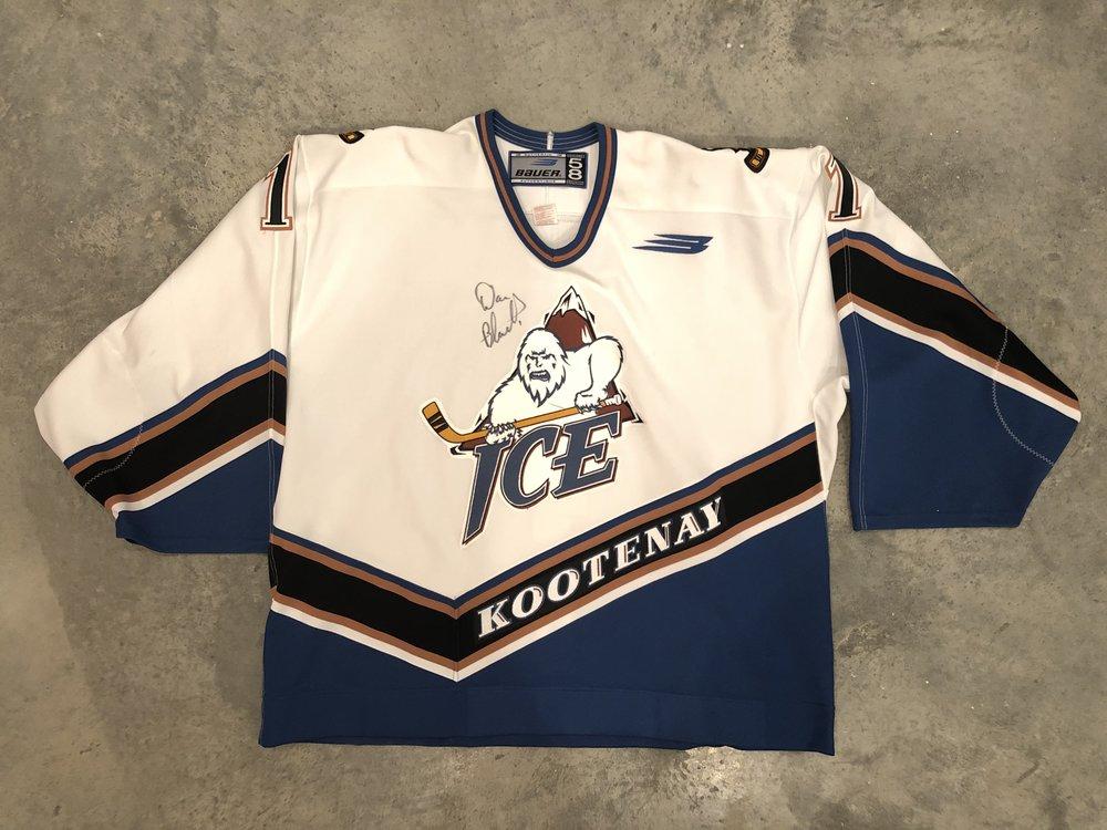 2000-01 Dan Blackburn Kootenay Ice Game Worn Home Jersey