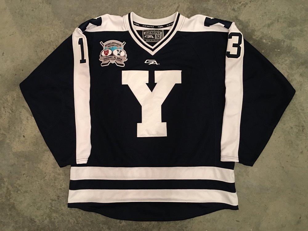 2014 Matt Beatie Yale University Game Worn Alternate Jersey