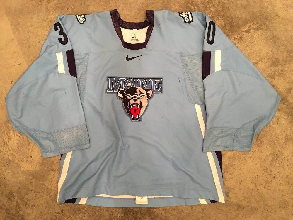 2006-07 Ben Bichop University of Maine Game Worn Alternate Jersey