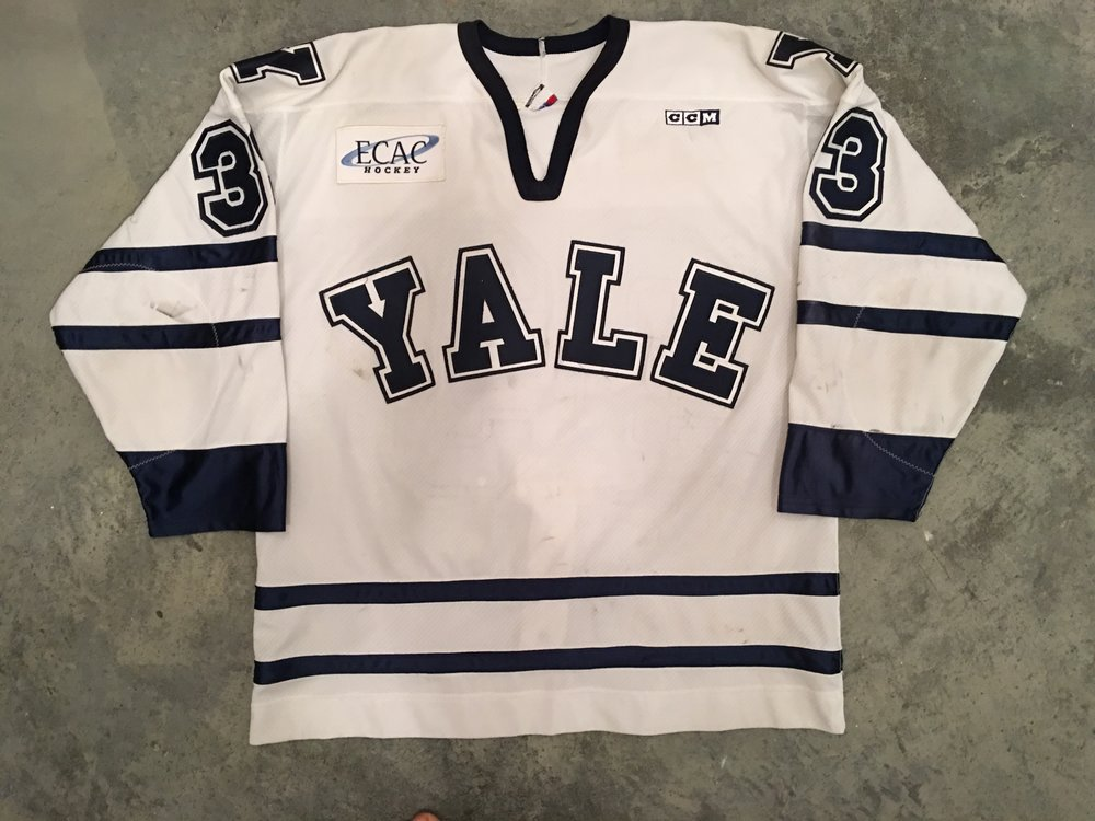 2002-04? Peter Cohen Yale University Game Worn Home Jersey