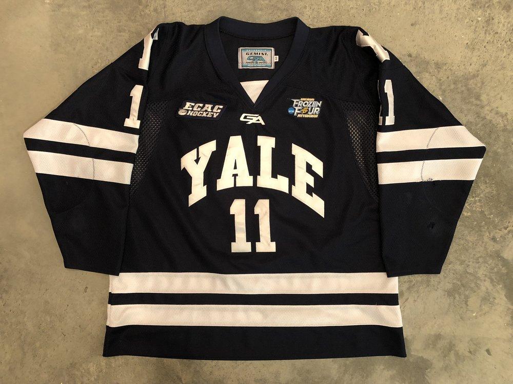 2012-13 Trent Ruffolo Yale University Game Worn Road Jersey