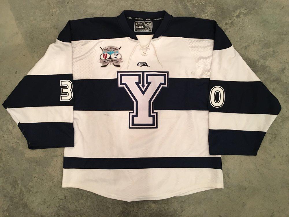 2015 Patrick Spano Yale University Game Worn Alternate Jersey