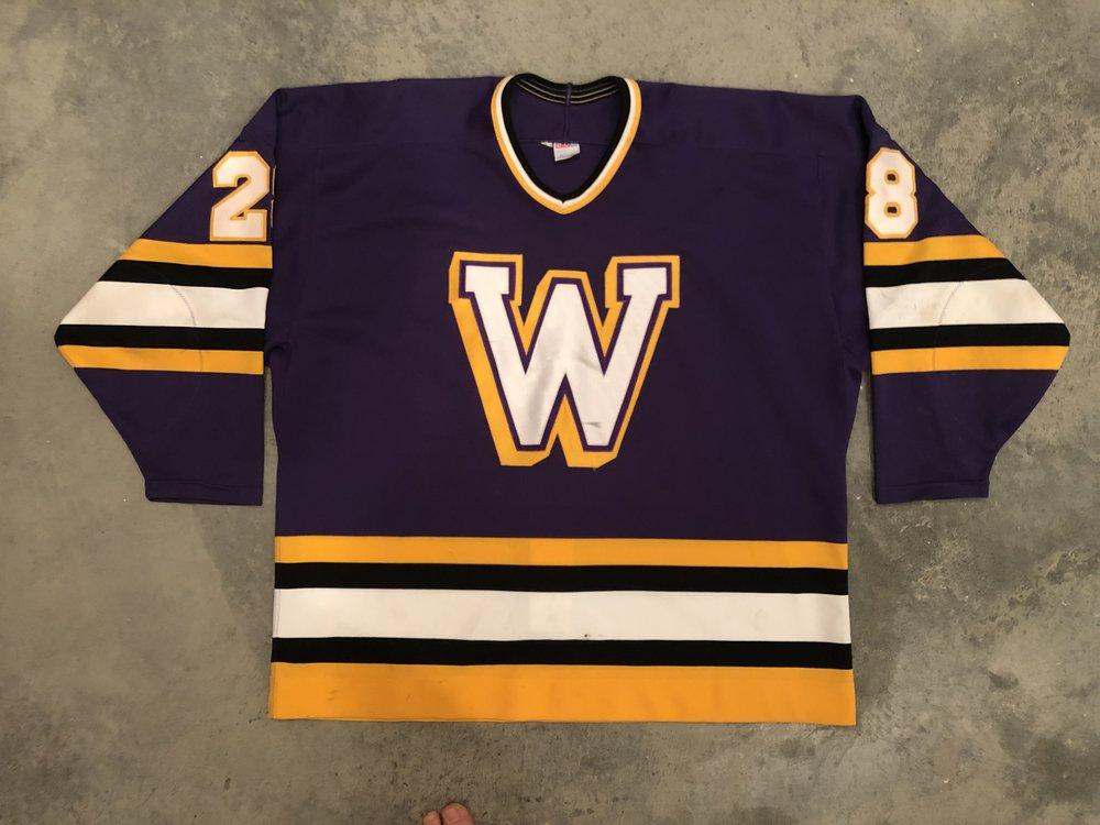 1996-00 Damian Zunino Williams College Game Worn Road Jersey