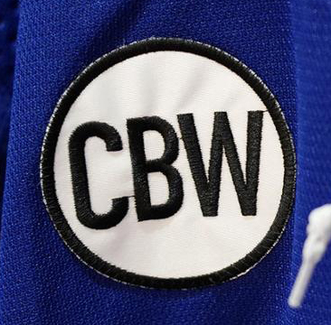 WANTED - CBW patch worn during the 2018-19 season in memory of owner Charles Wang