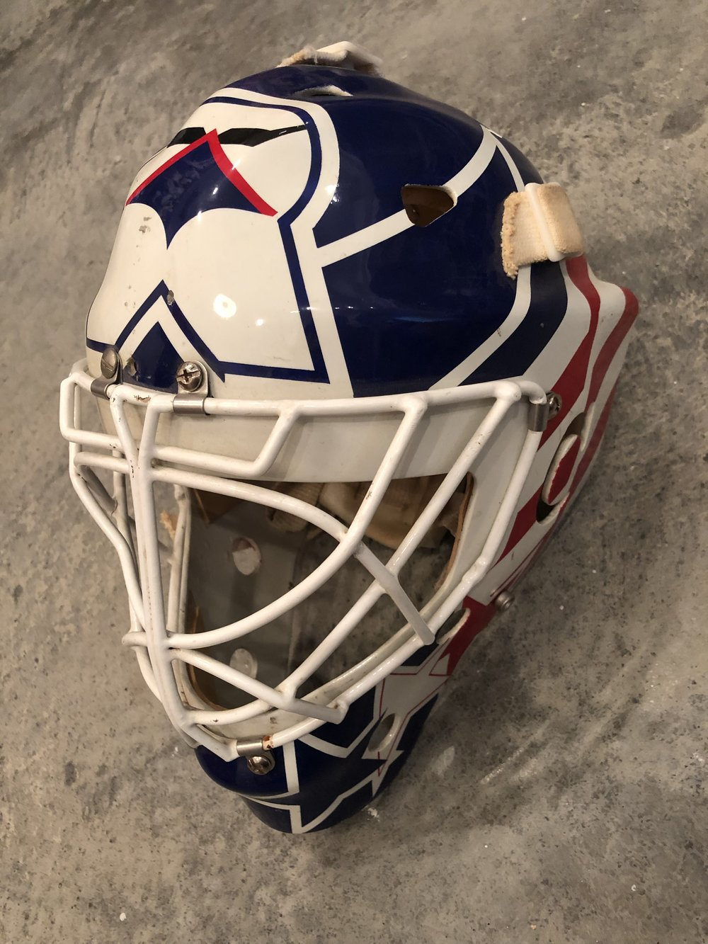 1995-96 Ray LeBlanc US National Team game worn mask   For Sale or trade - $1,800