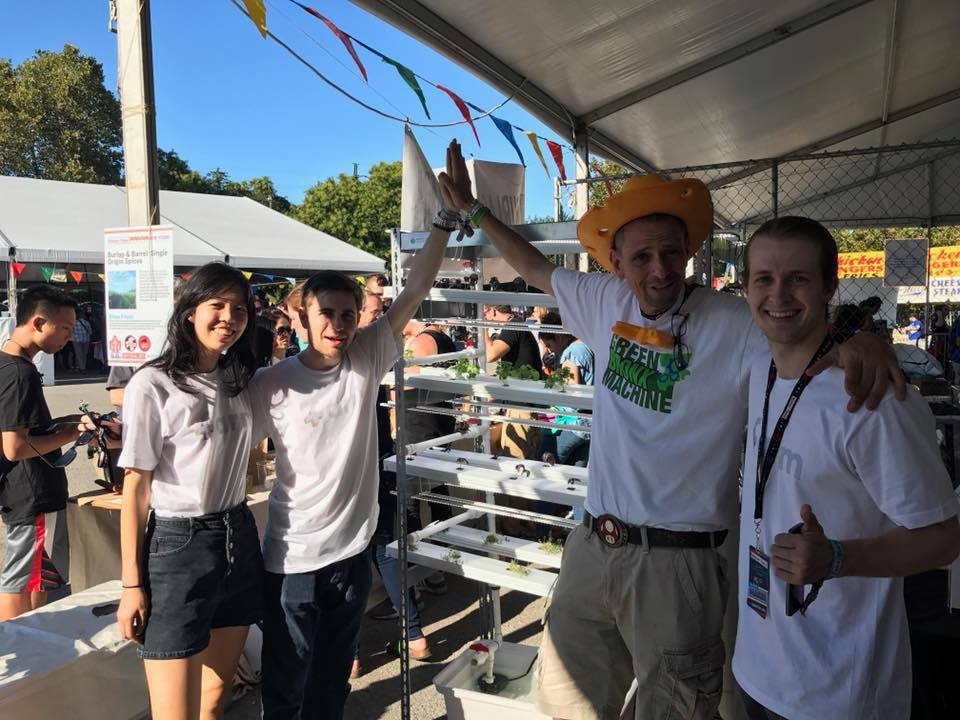 At New York Maker Faire 2017 with Stephen Ritz.