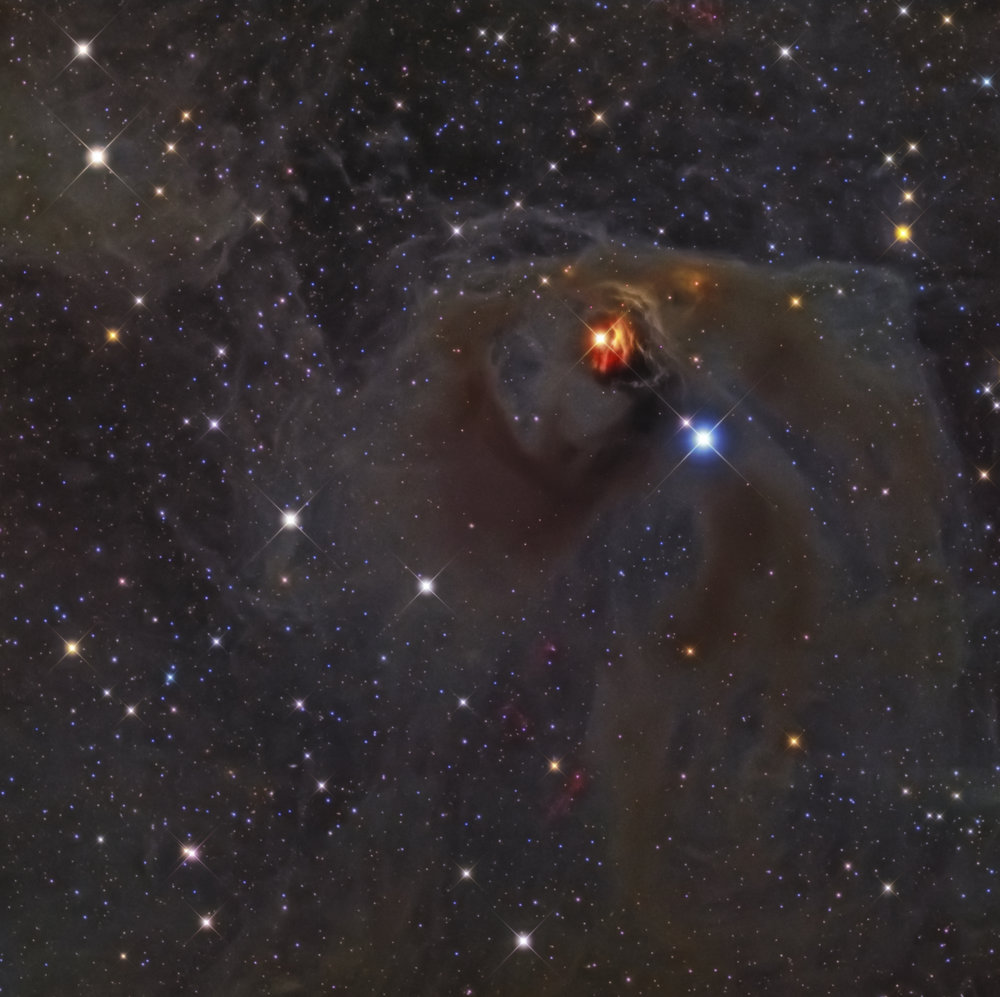 NGC 1555, 1554 Hind's Variable Nebula