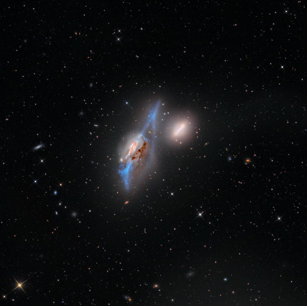The Eyes Galaxies /NGC 4435-4438 (SWO at Rancho Hidalgo))