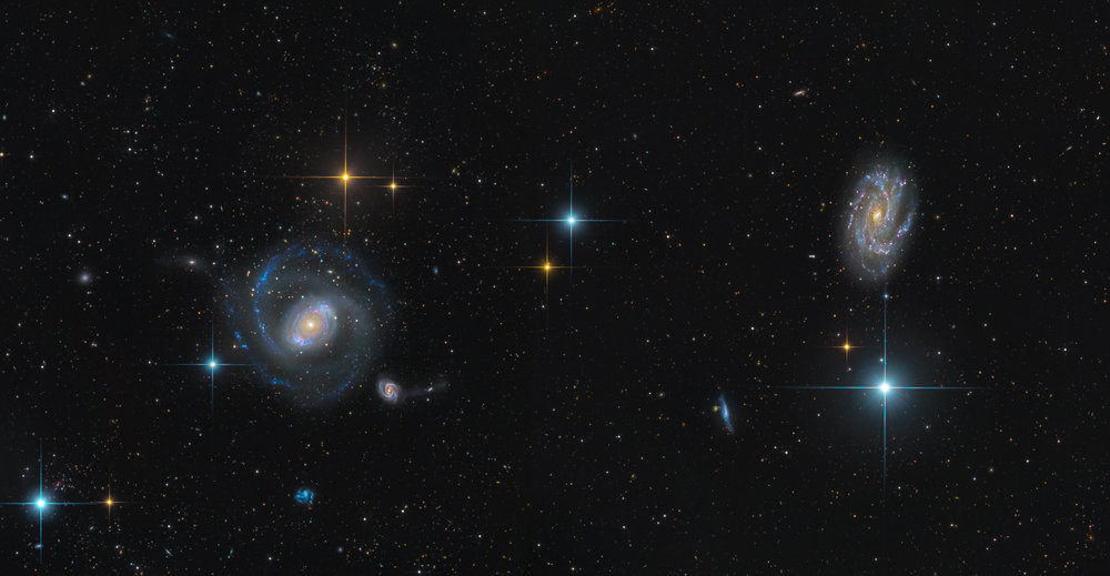 NGC 4151 and 4145 Mosaic (SWO in New Mexico)