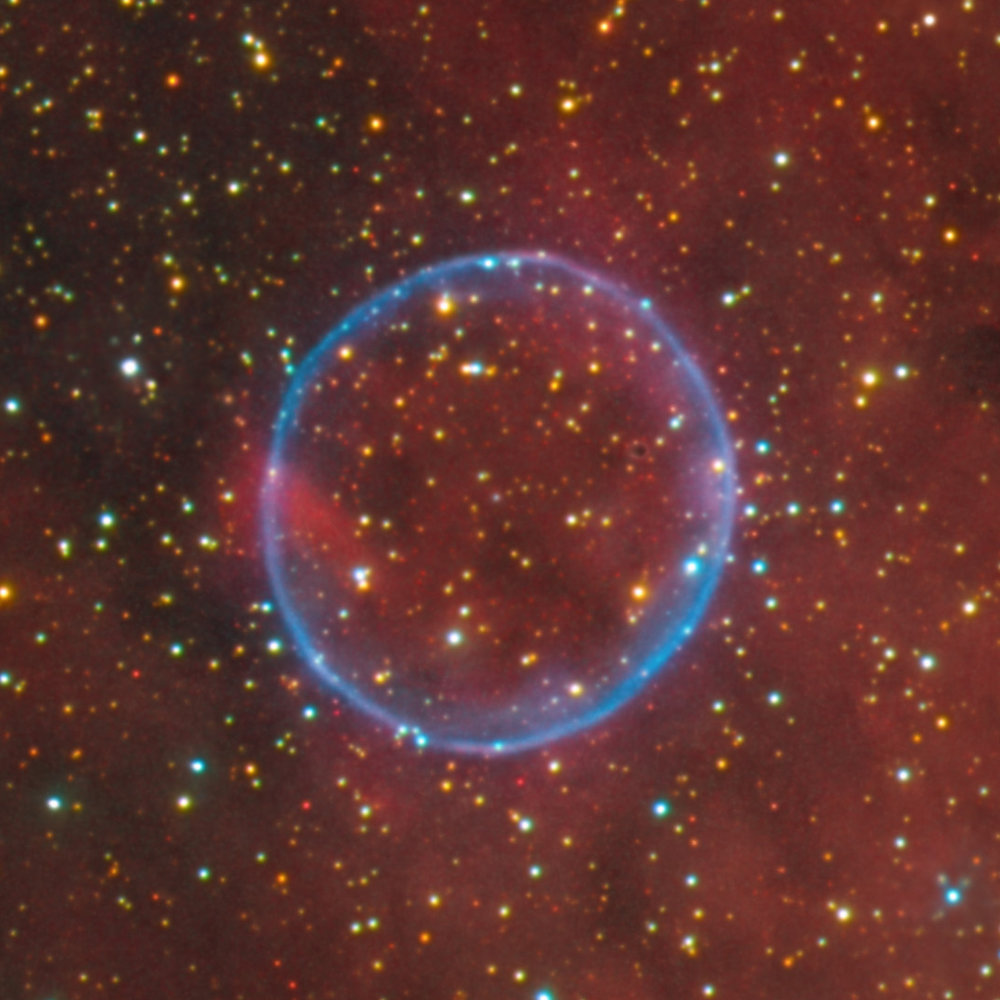 100% Crop of the Soap Bubble Nebula