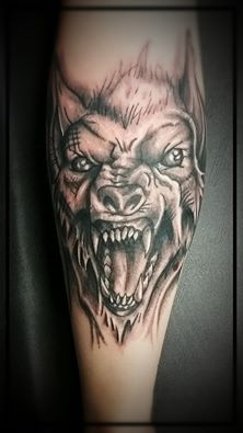 Black and grey werewolf by Billy Cook