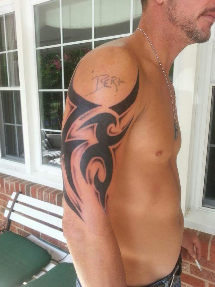 Tribal work by Scott Sherrill                                                                                                                                               the bert was not done by scott