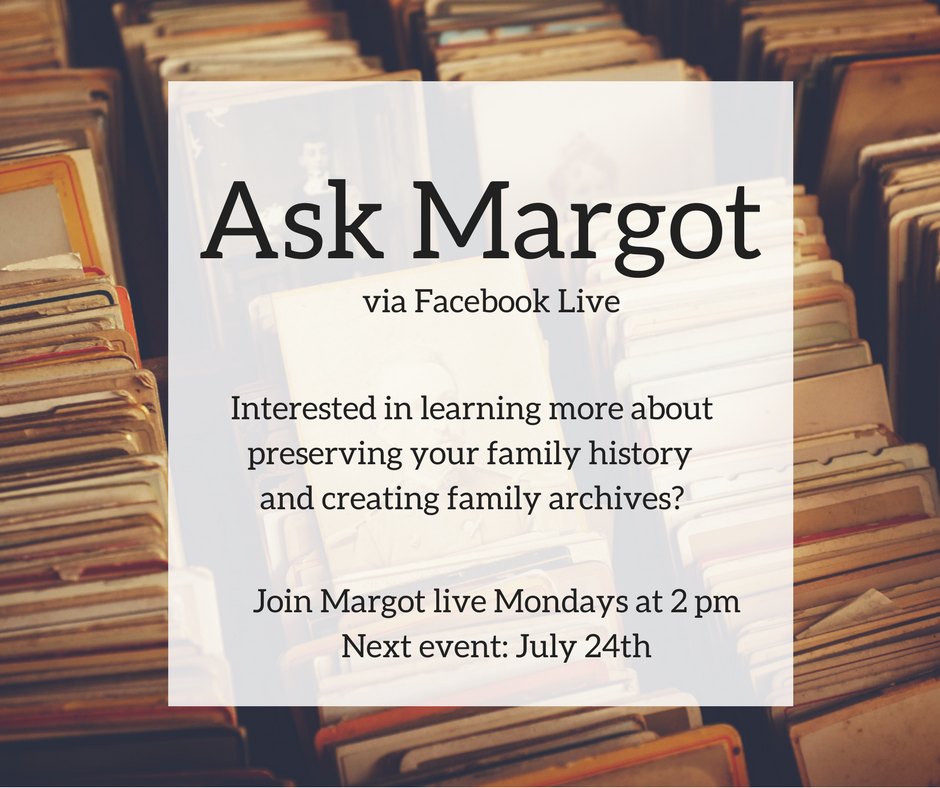 Facebook Live about Creating Family Archives