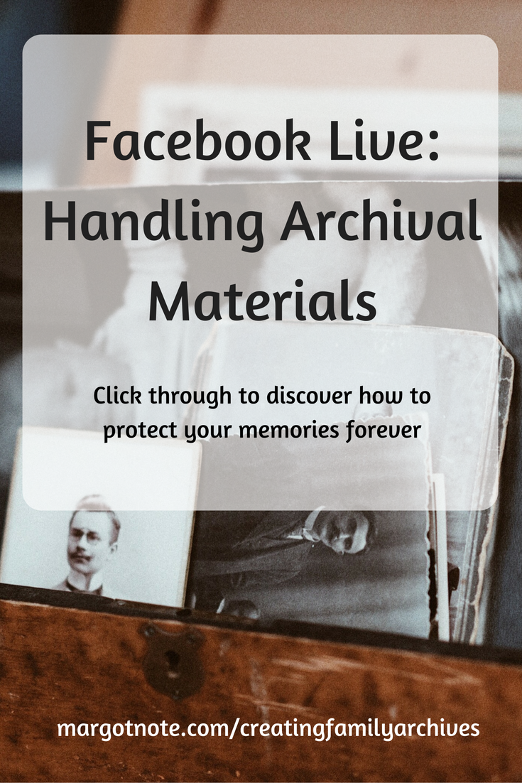 Facebook Live: Handling Archival Materials