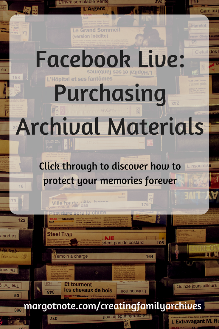 Facebook Live: Purchasing Archival Materials