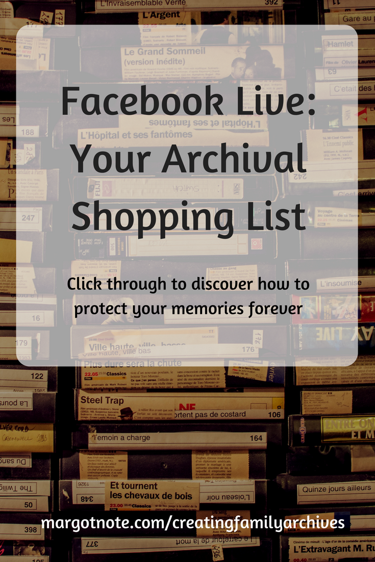 Facebook Live: Your Archival Shopping Trip
