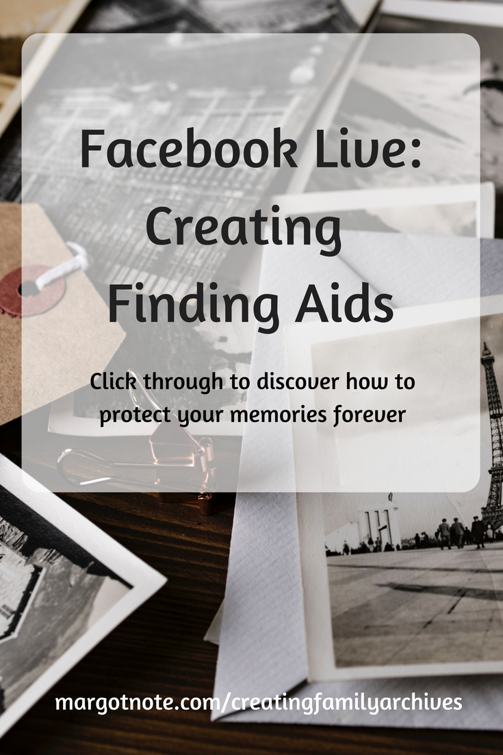 Facebook Live: Creating Finding Aids